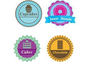 Vetores de etiquetas de doces