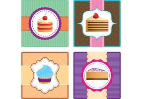 Cartões do vetor do bolo