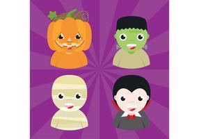 Avatares de Halloween 01 vetor