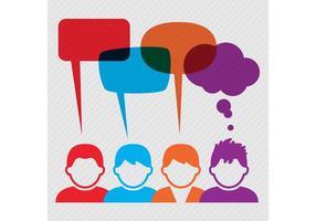 Vetores de pessoas com Speech Bubbles