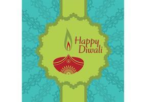 Cartão vetorial Diwali vetor