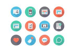 Ícones de vetores planos de redes sociais livres