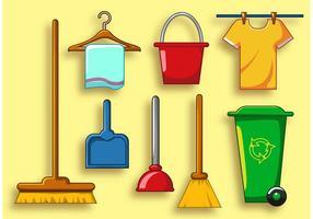 Conjunto de ícones de vetores de serviços limpos