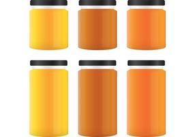 Frascos de vetores de mel