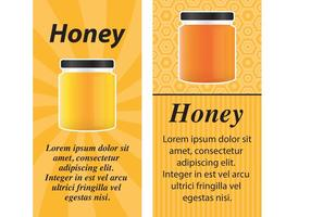 Cartões do vetor do frasco do mel