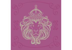 Leão desenhado mão de Judah Vector