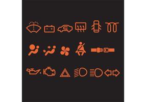 Ícones do vetor do carro