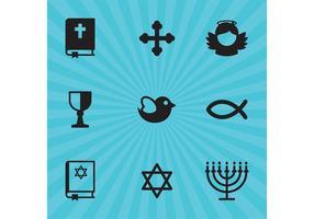 Ícones do vetor da religião