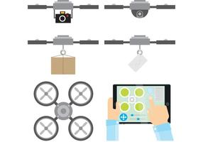 Funções vetoriais do drone vetor
