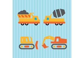 Veículos Vector de Construção