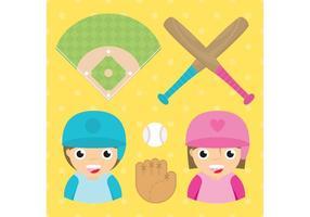 Conjunto de vetores de beisebol