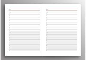Vetor planejador diário