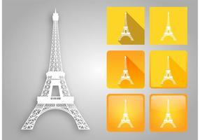 Pacote de vetores da Torre Eiffel