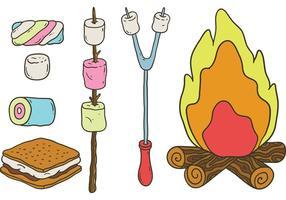 Vetores Free Camp Marshmallows