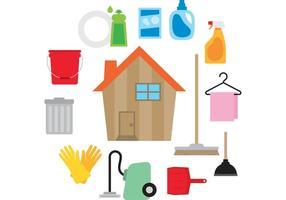 Vector da casa limpa