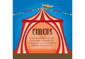 Backgroujnd de vetor de circo vintage