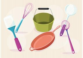Artigos modernos do vetor da cozinha