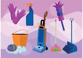 Vetores do serviço de limpeza