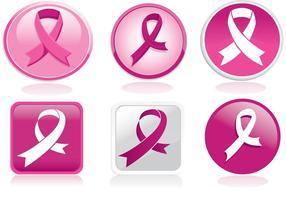 Pacote vetorial Rbbon de câncer de mama
