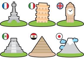 Pacote de vetores de monumentos