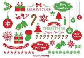 Elementos do vetor de Natal de Bels de Jingle