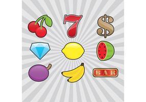 Ícones de vetor de slot machine