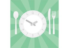 Configuração da tabela de jantar do vetor do relógio
