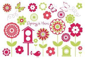Elementos do vetor da primavera