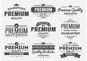 Insígnias de estilo Premium de estilo retro