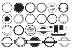 Elementos do emblema do vetor