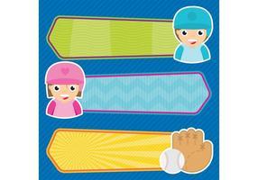 Banners de vetores de beisebol