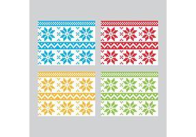 Padrões vetoriais de têxteis de inverno vetor