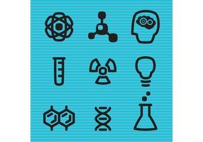 Ícones do vetor da ciência