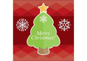 Cartão do vetor árvore de natal