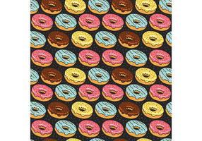 Padrão sem costura de donuts grátis vetor
