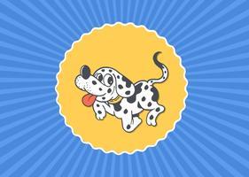 Cartão de filhote de cachorro dálmata de desenhos animados grátis vetor