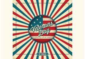 Fundo retro retro do vetor do dia dos veteranos