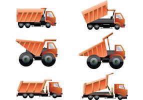 Pacote de vetores de caminhões de descarga