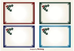 Etiquetas de vetor de natal de azevinho
