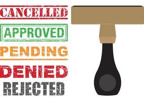 Selos de cancelamento do vetor de ícones