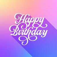 cartão pastel na moda do feliz aniversario vetor