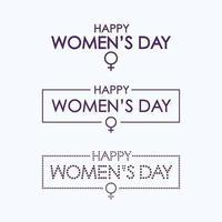 feliz dia da mulher letras conjunto vetor