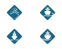 símbolo de forma de diamante de navio de cruzeiro vetor