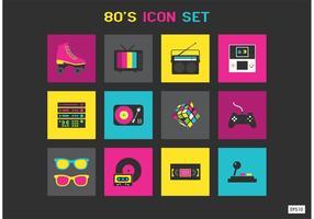 Ícones de vetor grátis dos anos 80