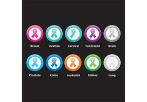Câncer Botons vetor