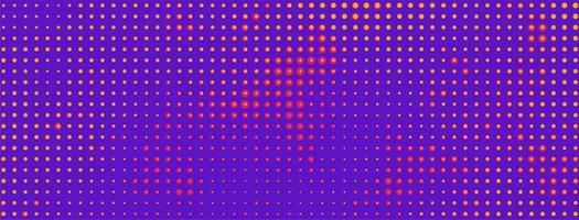 banner colorido de meio-tom vetor