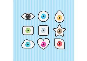 Vetores de símbolos oculares