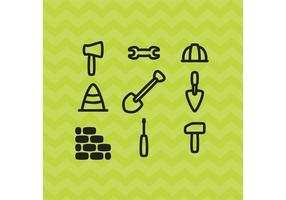 Vetores de ícones de construção