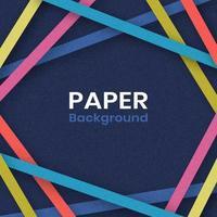 fundo de cartão de linhas de arte de papel vetor