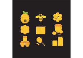 Ícones de vetor de mel
